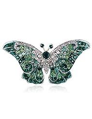Empress Monarch Purple Winged Butterfly Crystal Rhinestone Pin Brooch