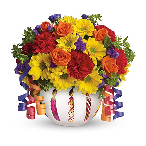 Brilliant Birthday Blooms Bouquet by Fasan Florist - Fresh Flowers Hand Delivered - Chicago Area by Fasan Florist