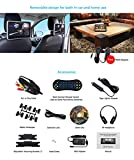 DDAUTO-101-inch-Screen-Ultra-thin-Car-Headrest-DVD-Player-Multimedia-Player-Raspberry-Pi-Monitor-with-HDMI-Port-and-Remote-Control-and-Wall-Charger-and-IR-headphone-DD1018DS