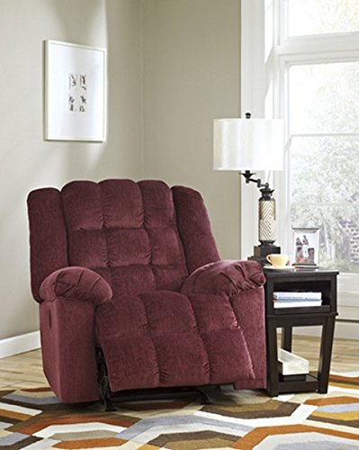 Signature Recliner Rocker (Ashley Furniture Signature Design - Ludden Power Recliner - 1 Touch Reclining - Rocker - Burgundy)