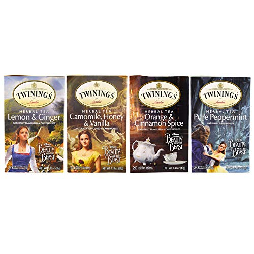 Twinings Disney Beauty and the Beast Herbal Tea, 20 Count