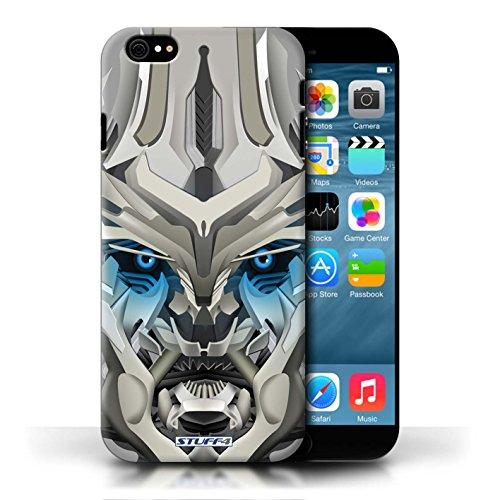 Etui / Coque pour Apple iPhone 6/6S / Mega-Bot Bleu conception / Collection de Robots