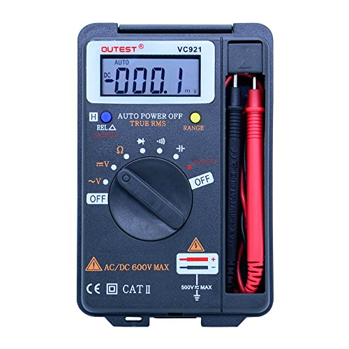 Portable Digital Multimeter mini rms digital multimeter Auto Range Frequency AC/DC Voltage multi tester 4000 counts pocket size ()