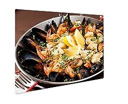 Ashley Giclee Metal Panel Print, Seafood Paella In The Fry Pan, 16x20