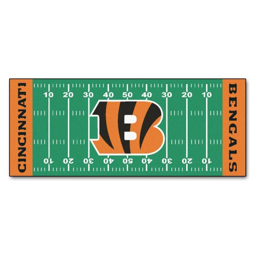 - FANMATS NFL Cincinnati Bengals Nylon Face Football Field Runner