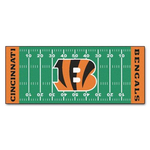 FANMATS NFL Cincinnati Bengals Nylon Face Football Field Runner