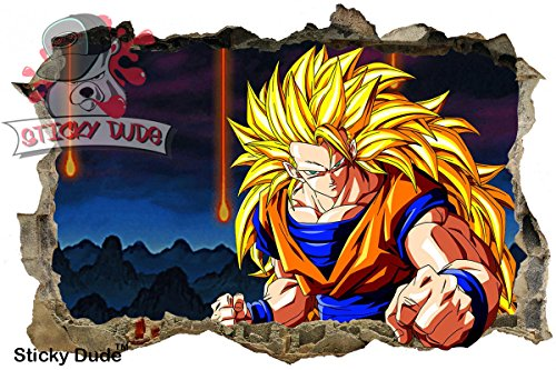 3D Effect Dragon Ball Z Goku Wall Decal - 35