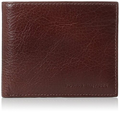 Tommy Hilfiger  Men's  Leather Passcase Wallet with Removable Card Holder,Tan