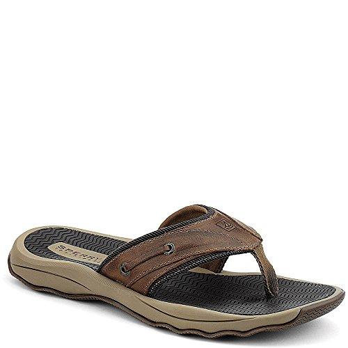 Sperry Top-Sider Men's Outer Banks Thong Fisherman Sandal, Brown, 9 M US (Thong Men Sandals)
