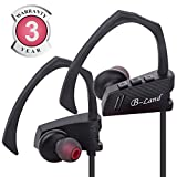 Bluetooth Headphones, B-Land Best Wireless Sports Earbuds with Mic, IPX5 Sweatproof Headsets HD Stereo Wireless Headphones for Running, Gym & Workout (Black)