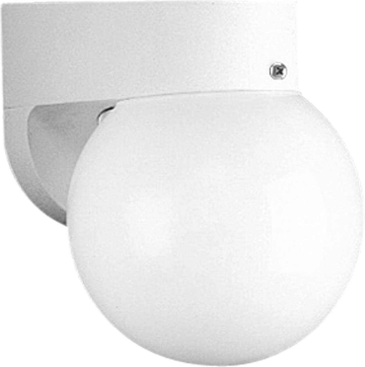 Progress Lighting P5813-30 Transitional One Light Wall Bracket from Polycarbonate Collection in White Finish, 6-Inch Width x 7-3 4-Inch Height