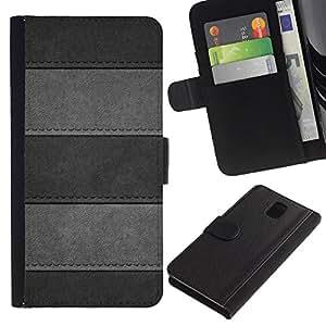 UNIQCASE - Samsung Galaxy Note 3 III N9000 N9002 N9005 - Minimalist Stitched Leather Pattern - Cuero PU Delgado caso cubierta Shell Armor Funda Case Cover