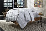 Behrens England Traditional European Hotel White Down Alternative Comforter with Gel Fiber, All season light weight, medium warmth, 100% Cotton Hypoallergenic & Machine Washable (Full / Queen)