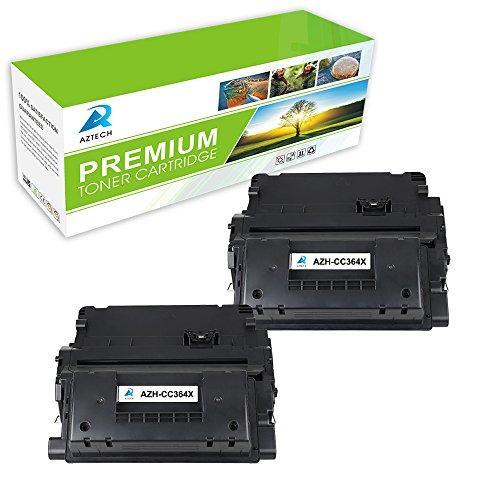 Aztech 2 Pack Replacement 64X (CC364X) High Yield Original LaserJet Black Toner Cartridge For 64X CC364X Toner Cartridge
