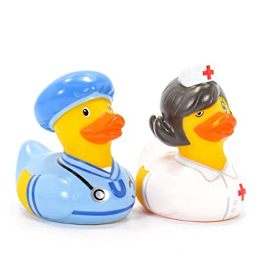 Nurse & Doc First Responders Rubber Duck (Mini Set) Bath Toys by Bud Duck | Elegant Gift Packaging We Care for You | Child Safe | Collectable: Toys & Games [5Bkhe1512410]