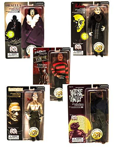 Mego Wave 6 Horror Set - Dracula - Nosferatu - Werewolf - Frankenstein - Nightmare on Elm Street -