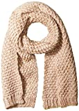 Jessica Simpson Women's Lurex Blend Textured Knit Scarf, Rose Water, One Size