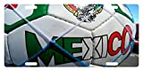 MEXICO FLAG Custom License Plate Mexican Emblem Soccer Ball Version #02