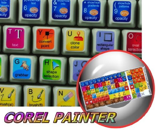 - COREL PAINTER KEYBOARD STICKERS FOR DESKTOP, LAPTOP AND NOTEBOOK