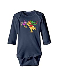 Winnie The Pooh And Piglet Skating Kids Bodysuit Climbing Clothes (0-24 Months)