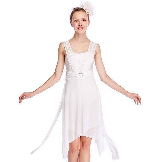 4b1c6f046fd6 MiDee Camisole Sequins Cross Skirt Latin Dress Lyrical Dance Costume: Amazon.co.uk:  Clothing