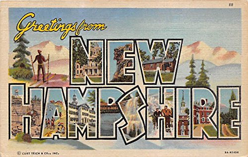 New Hampshire, NH, USA Large Letter Postcard