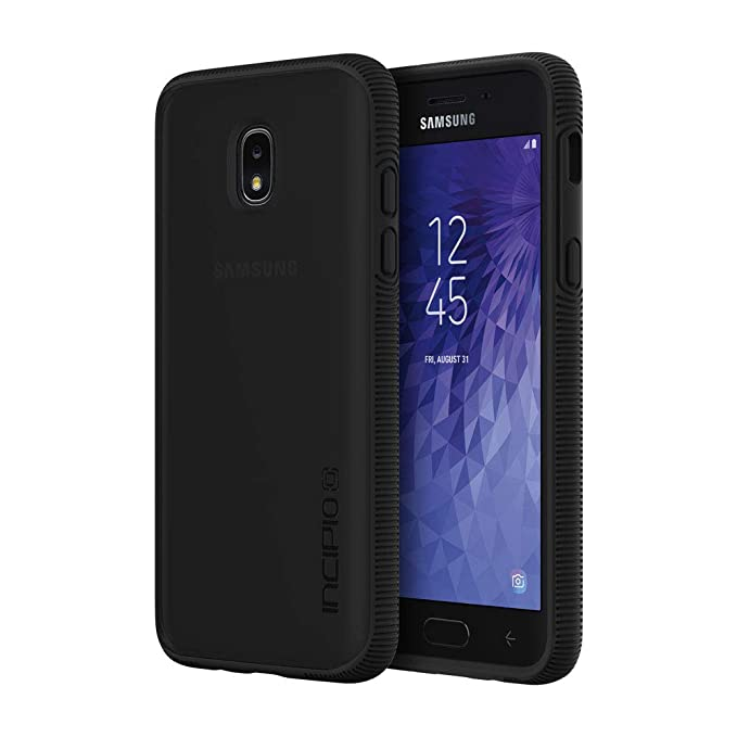 buy online c6cf0 4bcd1 Incipio Octane Samsung Galaxy J3 (2018) Case with Textured Bumper and Hard  Shell Back for Samsung Galaxy J3 (2018) - Black