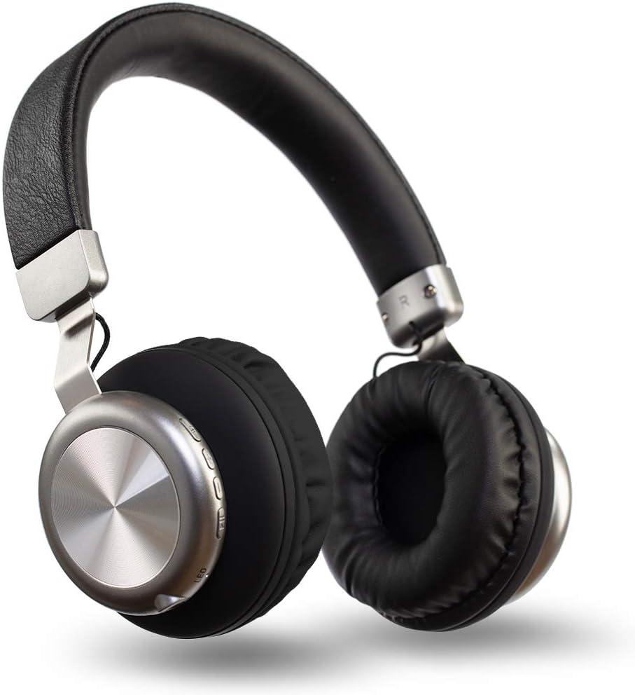 Auriculares Diadema Over Ear Bluetooth Forme Cascos Bluetooth con Micrófono Controlador de 40 mm Headphone con TF FM MP3 MP4 para PC, Móviles, Tablet