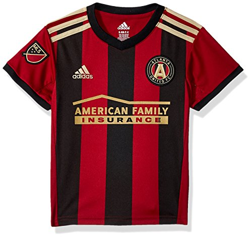 United Replica Jersey - OuterStuff MLS Atlanta United Boys 4-7 Primary Replica Jersey, Small/Size 4, Victory Red