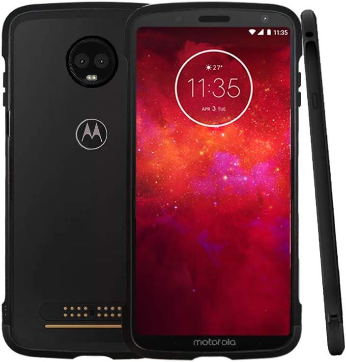 MARSTAK Moto Z3 Play Case, Lenovo Original Metal de Aluminio Bumper antiarañazos a Prueba de Golpes Compatible con Moto Mods Funda Protectora para Motorola Moto Z3 / Moto Z3 Play: Amazon.es: Electrónica