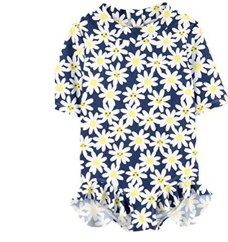 (Carter's Daisy Floral One Piece Rashguard Swimsuit 2T)