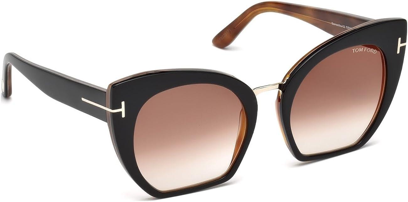 Tom Ford FT0553 01W Womens Sunglasses Glasses Shiny Black