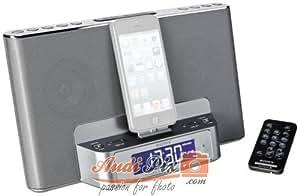 Sony ICFDS15IPSN - Altavoz con puerto dock para iPhon/iPod (con radio AM/FM, alarma) plateado