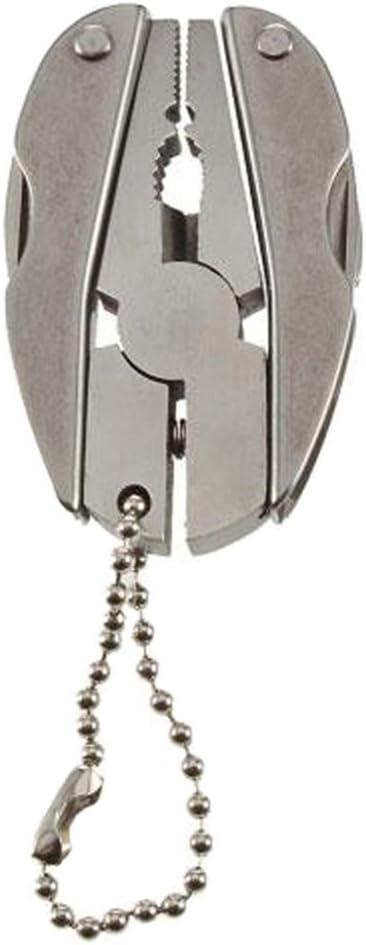 BESTOMZ Alicates Multiherramienta - Alicates Mini Plegables de Alambre de Bolsillo, Pelacables y Engarzadores, Alicates de Llave de Martillo Cuchillas de Hoja de Sierra