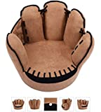 Tv Chairs for Kids Baseball Glove Sofa Armrest Couch Children Living Room Bedroom Boys Furniture Reading Lounge Seat Brown