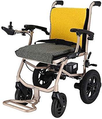 実用的 電動車椅子、全自動折りたたみインテリジェントライト高齢者の四輪スクーター障害者車椅子、折りたたみキャリー電動車椅子、パワフルなデュアルモーター 福祉