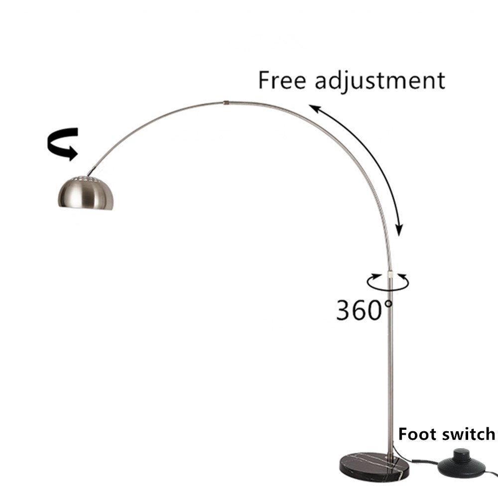 Moderno acero inoxidable Lámpara de pie creativos 360 ° rojo ...