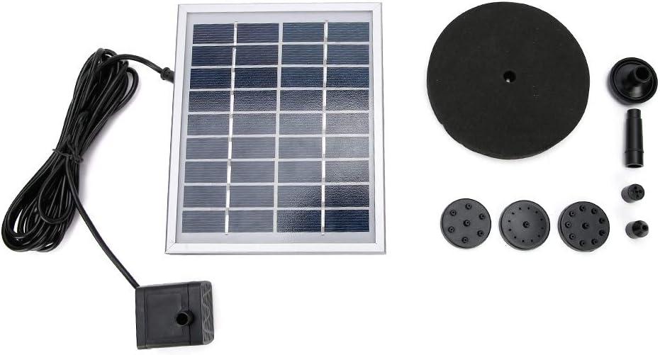 Semiter Funcionamiento automático Decoración de jardín con energía Solar, Conveniente Fuente Solar, para la circulación del Agua del Bebedero para pájaros para el Tanque de Peces de oxígeno
