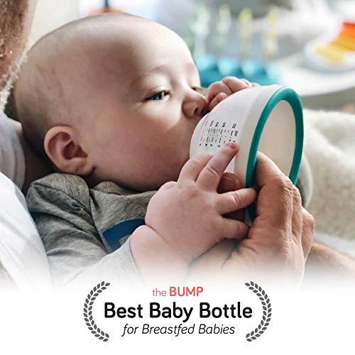 nanobebe Breastmilk Baby Bottles for Breastfed Babies, BreastfeedingNewbornBreast Like, Anti Colic, Easy Latch, Preserves BreastMilk nutrients 3pk (Award Winning Innovation), Teal