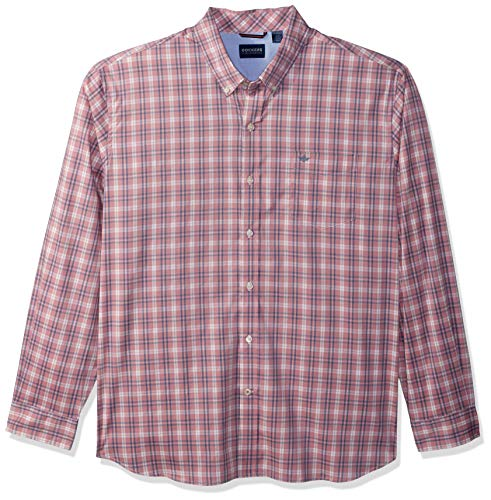 Dockers Men's Long Sleeve Button Front Comfort Flex Shirt, Foxglove, Medium
