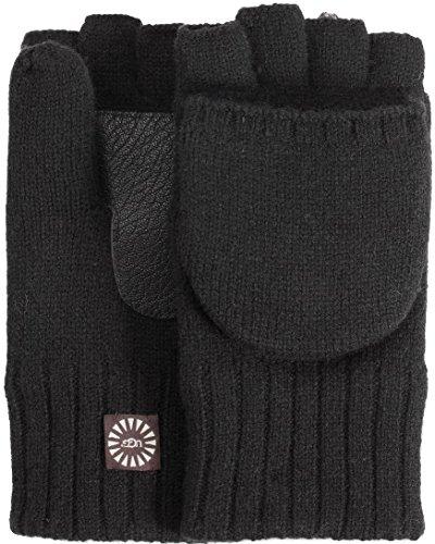 UGG  Men's Classic Knit Flip Mittens Black LG/XL