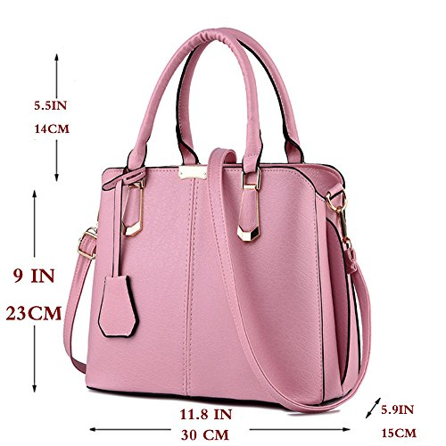 Shoulder FiveloveTwo Handbag Pink and Tote Handle Top Purse Womens Bags Satchel Purse R77Bxw0qa