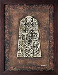 Cross at Angus - Cast Paper - Celtic Cross - Scottish Art - Irish art - Highlander - Pictish - Stone Cross - wall art