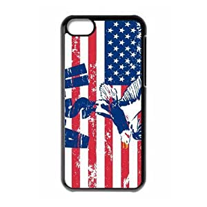 Cell phone Iphone 5C Protection Cover Hard Case Of American Retro Flag