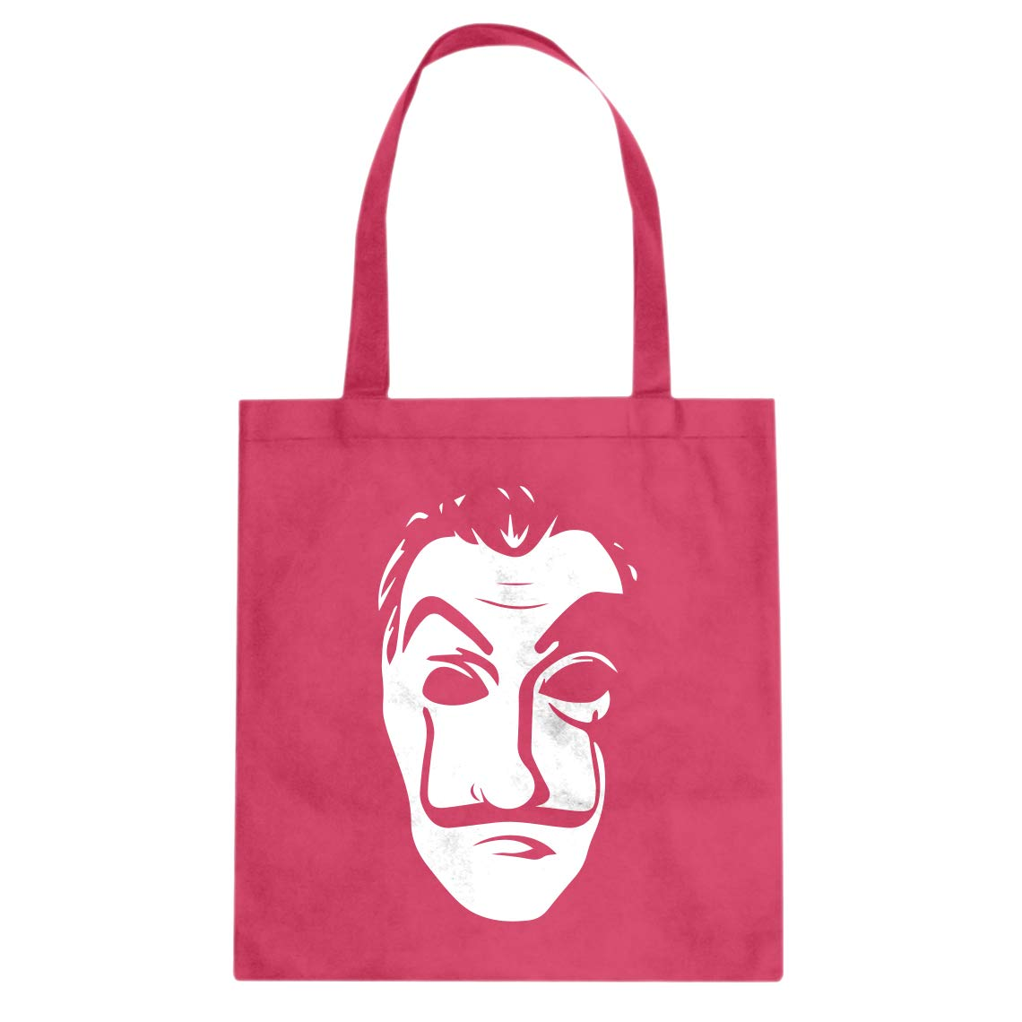 Indica Plateau Salvador Dali Face Heist Mask Cotton Canvas Tote Bag