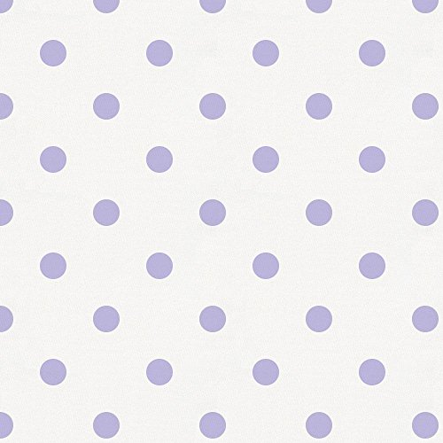 Carousel Designs White and Lilac Dot Fabric by the Yard - Organic 100% (Lilacs Yard Design)