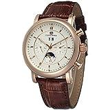 Forsining Men's Automatic Movement Tourbillion Calendar Wrist Watch FSG553M3R1