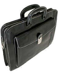 Floto Luggage Milano Sleeve Notebook Case, Black, Medium