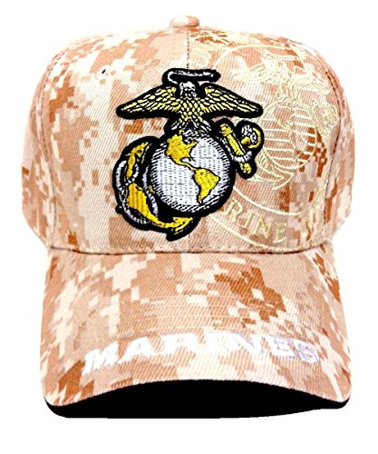 Logo United States Marines Corps USMC Digital Camo Camouflage Hat Cap