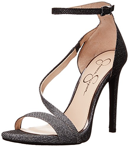Pewter Women's Simpson Rayli Jessica Sandal Heel Strappy High Black xnPUFA4T
